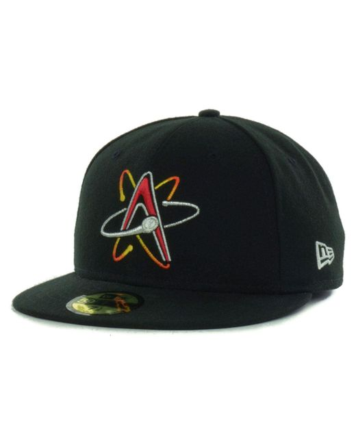 62fea6e96b431 KTZ - Black Albuquerque Isotopes Milb 59fifty Cap for Men - Lyst ...