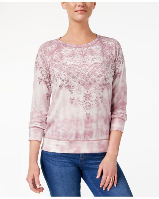 Style & Co. | Pink Tie-dyed Sweatshirt | Lyst