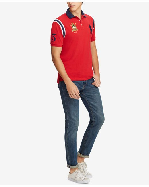 787aa4a8 ... Polo Ralph Lauren - Red Big Pony Vintage Crest Short-sleeve Polo Shirt  for Men