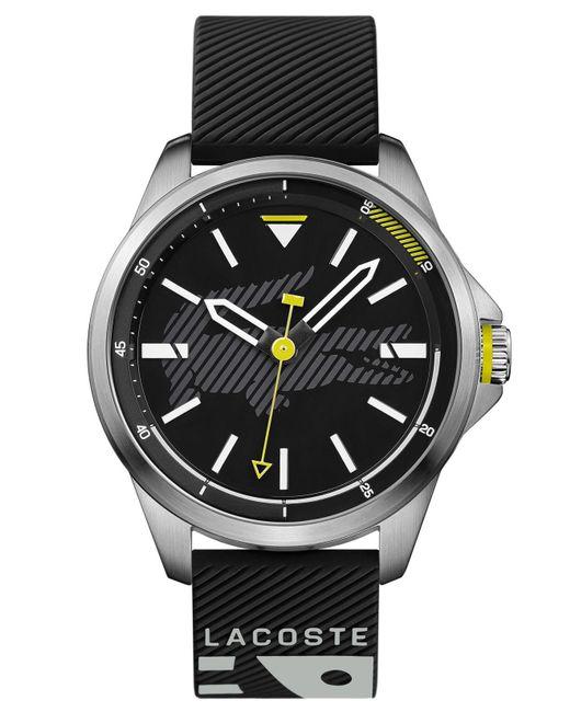 Lacoste - Capbreton Black Silicone Strap Watch 46mm for Men - Lyst