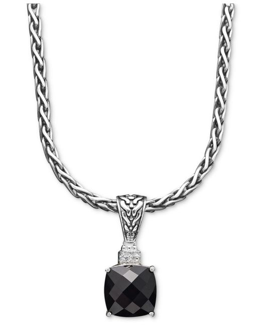 Effy Collection - Multicolor Onyx (5-1/5 Ct. T.w.) And Diamond Accent Pendant In Sterling Silver - Lyst