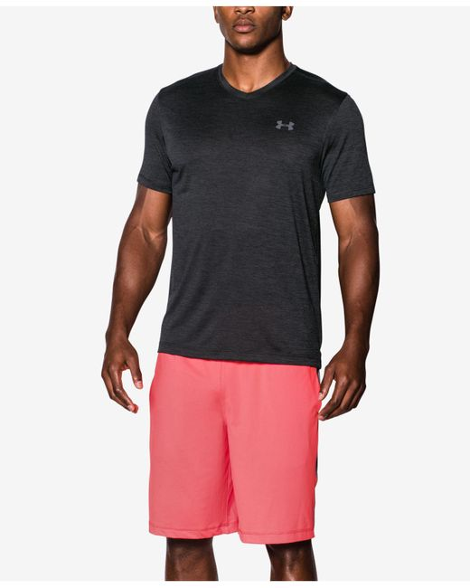 Under Armour | Black V-neck Tech T-shirt for Men | Lyst