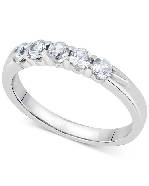 Macy's | Multicolor Diamond Five-stone Ring (1/2 Ct. T.w.) In 14k White Gold | Lyst