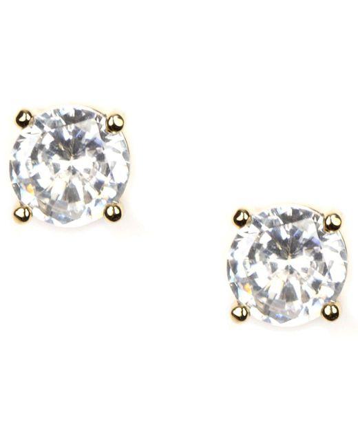 Givenchy - Metallic Earrings, Gold-tone Crystal Stud Earrings - Lyst