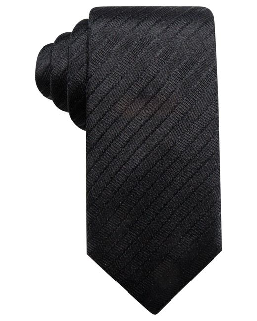 Alfani | Black Men's Stripe Silk Slim Tie, Created For Macy's for Men | Lyst