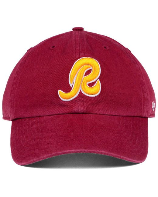 a429fa530c13a ... 47 Brand - Washington Redskins Clean Up Strapback Cap for Men - Lyst ...
