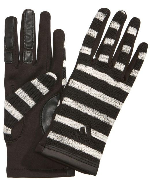 Adidas | Black Women's Performance Tone Touch Gloves | Lyst