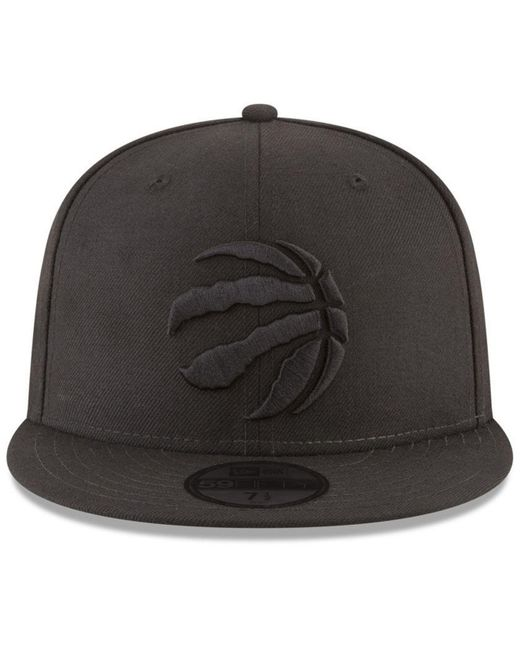 ... KTZ - Toronto Raptors Blackout 59fifty Fitted Cap for Men - Lyst ... 159adf3a9c0c
