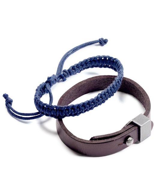 Rogue Accessories - Black Men's Leland 2-pc. Bracelet Set for Men - Lyst