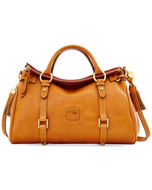 Dooney & Bourke - Brown Handbag, Florentine Vaccheta Satchel - Lyst