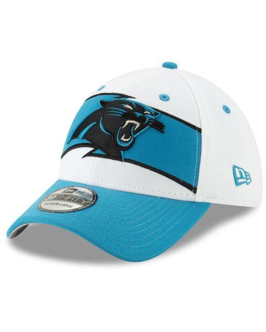c380910cf74 KTZ - Blue Carolina Panthers Thanksgiving 39thirty Cap for Men - Lyst ...
