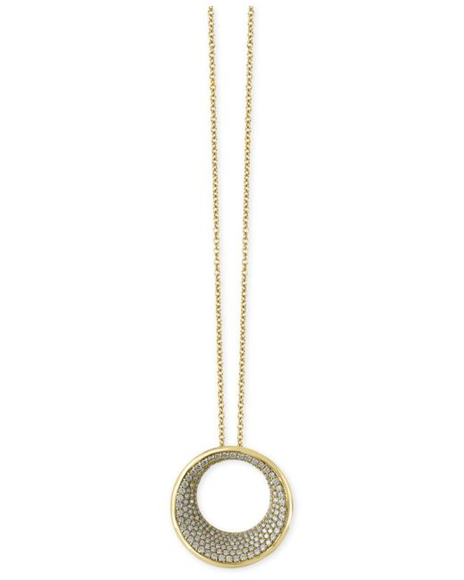 Effy Collection - Metallic Diamond Circle Pendant Necklace (1-9/10 Ct T.w.) In 14k Gold - Lyst