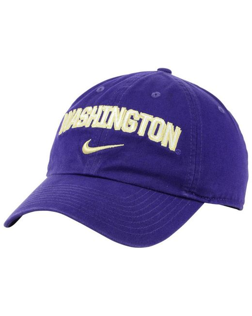 best authentic 62d42 378f3 Nike - Purple Washington Huskies H86 Wordmark Swoosh Cap for Men - Lyst ...