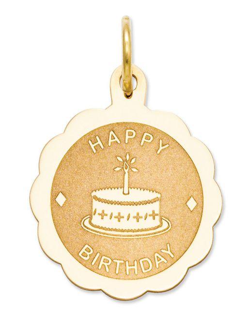 Macy's - Metallic 14k Gold Charm, Happy Birthday Charm - Lyst