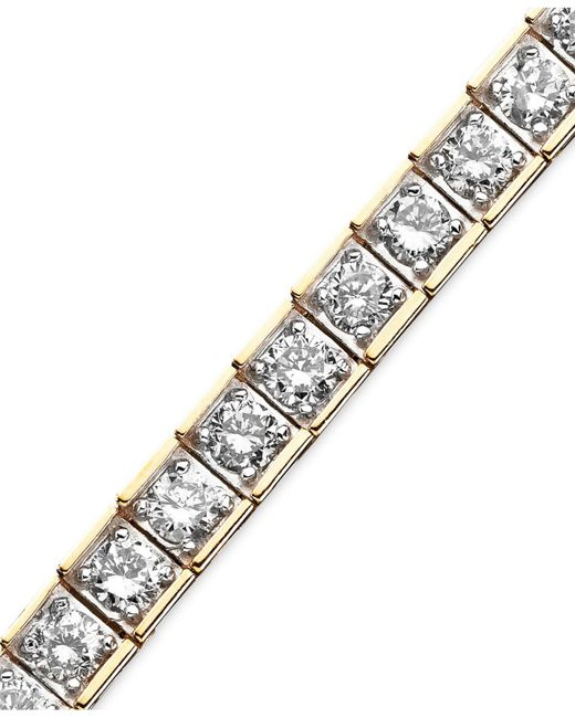 Macy's - Metallic Diamond Bracelet (5-5/8 Ct. T.w.) In 10k Gold - Lyst