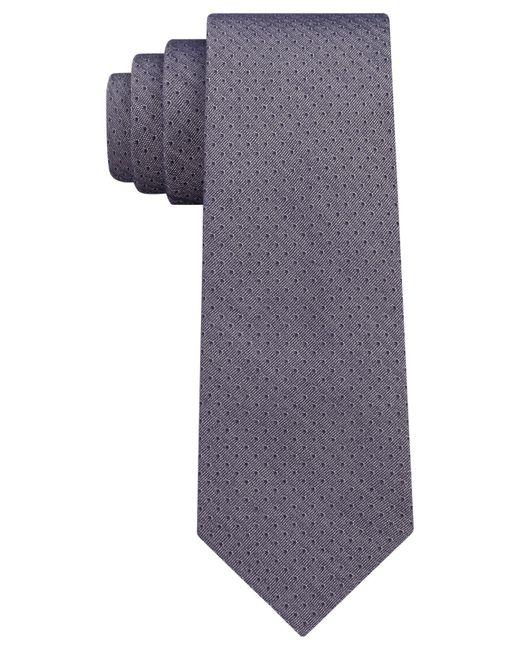 DKNY - Blue Denim Pindot Slim Tie for Men - Lyst