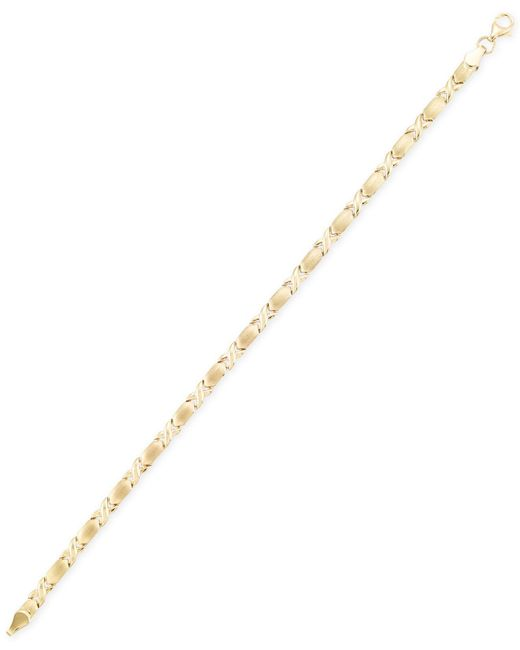 Macy's - Black Xo Bracelet In 10k Gold - Lyst