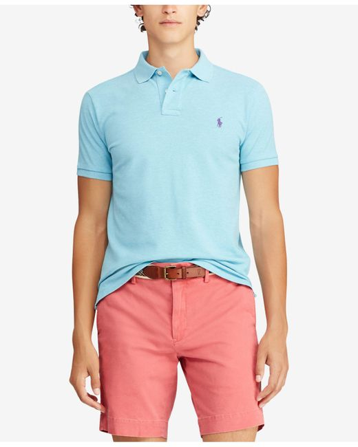 Lyst - Polo Ralph Lauren Big   Tall Classic Fit Mesh Polo in Blue ... 7b737cafe60ef