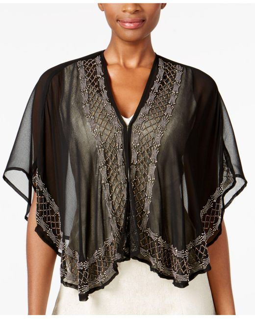 INC International Concepts | Black Beaded Evening Kimono | Lyst