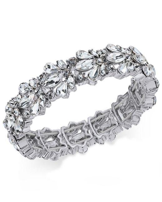 Charter Club   Metallic Crystal Stone Stretch Bracelet   Lyst