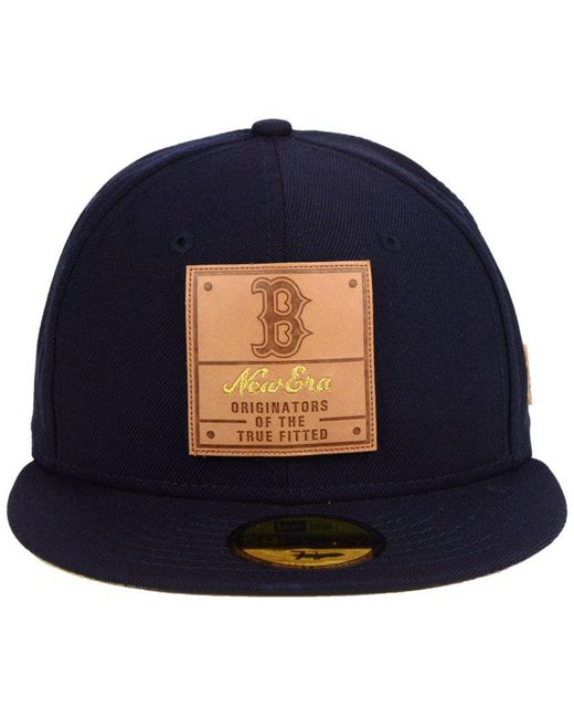 newest 60f32 f2088 ... closeout ktz blue boston red sox vintage team color 59fifty fitted cap  for men lyst 55de3
