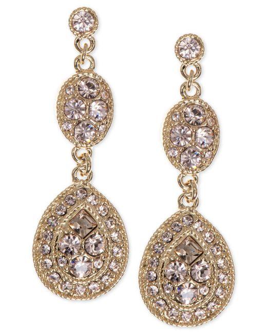 Givenchy - Metallic Earrings, Crystal Linear Teardrop - Lyst