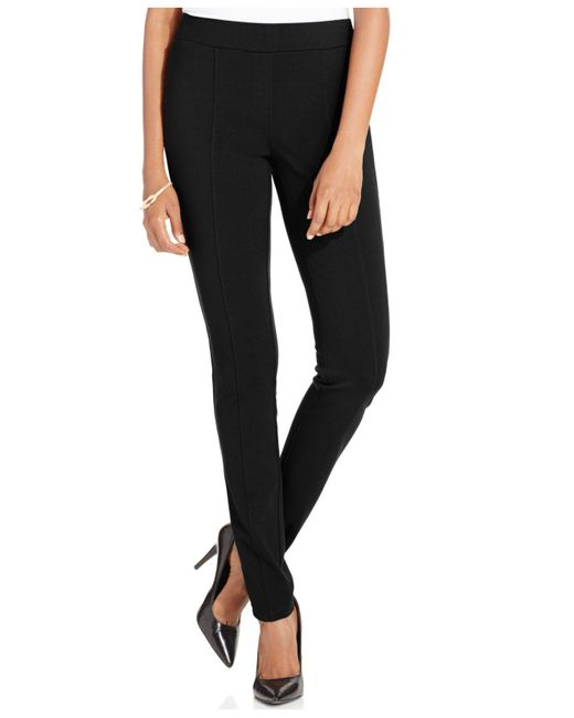 Style & Co. | Black Petite Stretch Seam-front Ponte Leggings | Lyst