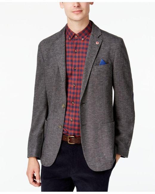 Ben Sherman | Men's Slim-fit Gray Herringbone Sport Coat for Men | Lyst