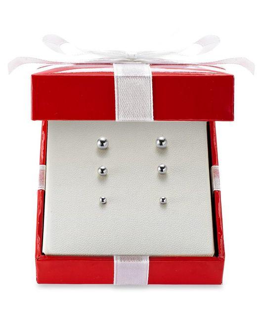 Macy's | White Ball Stud Earring Set In 14k Gold | Lyst