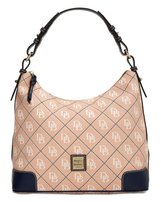 Dooney & Bourke - Pink Signature Erica Hobo, Created For Macy's - Lyst