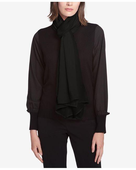 DKNY | Black Mixed Texture Knit Wrap | Lyst