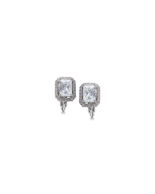 Carolee - Metallic Silver-tone Crystal Clip-on Stud Earrings - Lyst
