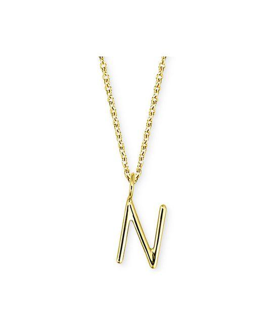 "Sarah Chloe - Metallic Amelia Initial 16"" Pendant Necklace In 14k Gold - Lyst"