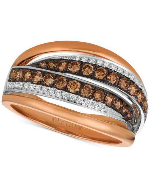 Le Vian - Metallic Chocolatier® Diamond Ring (7/8 Ct. T.w.) In 14k Rose Gold & White Gold - Lyst