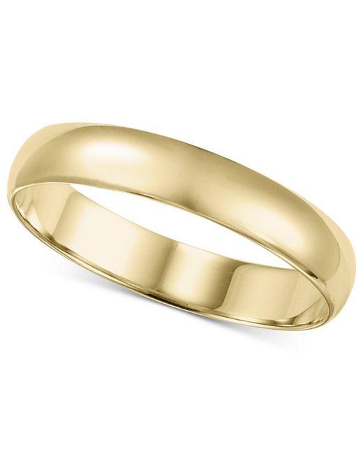 Macy's | Metallic 14k Gold Ring, 4mm Wedding Band for Men | Lyst