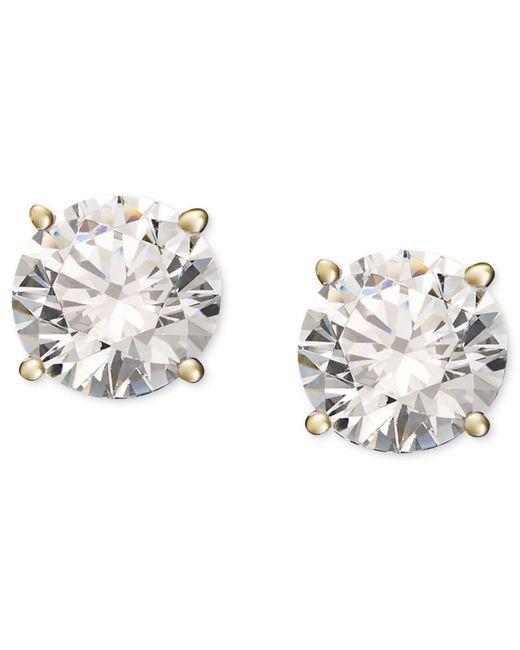 Macy's | Multicolor Diamond Stud Earrings (1/5 Ct. T.w.) In 14k White Or Yellow Gold | Lyst