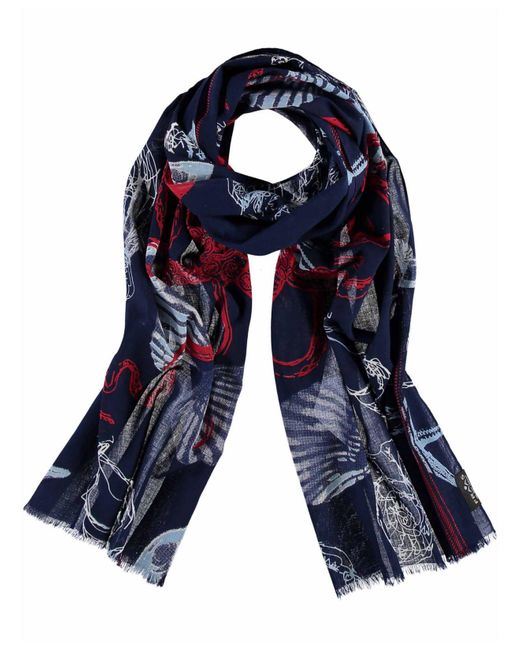 Fraas Blue Nautical Oblong Scarf