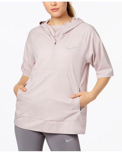 Nike - Pink Flex Water-repellent Short-sleeve Running Jacket - Lyst