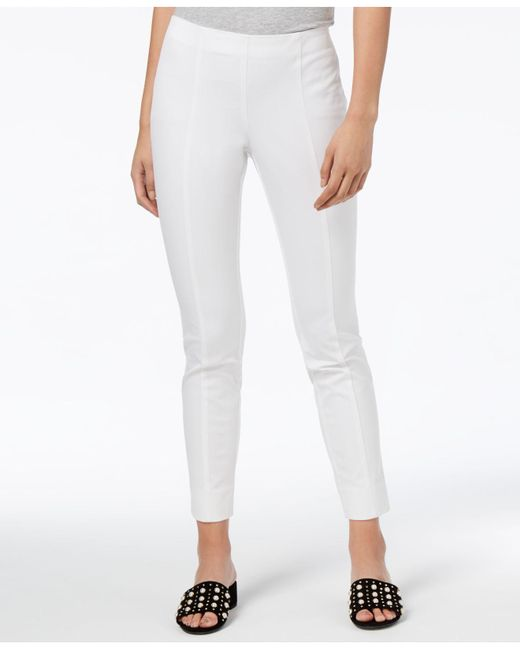 Maison Jules - White Pull-on Ankle Pants - Lyst