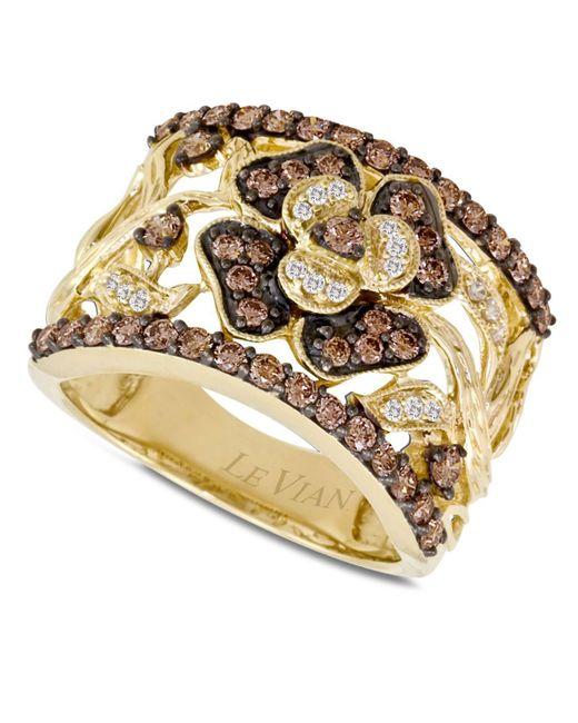 Le Vian - Brown Diamond Flower Ring (1 Ct. T.w.) In 14k Gold - Lyst