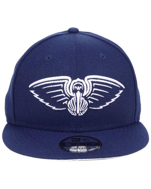 timeless design 141f9 f7822 ... KTZ - Blue New Orleans Pelicans Logo Trace 9fifty Snapback Cap for Men  - Lyst ...