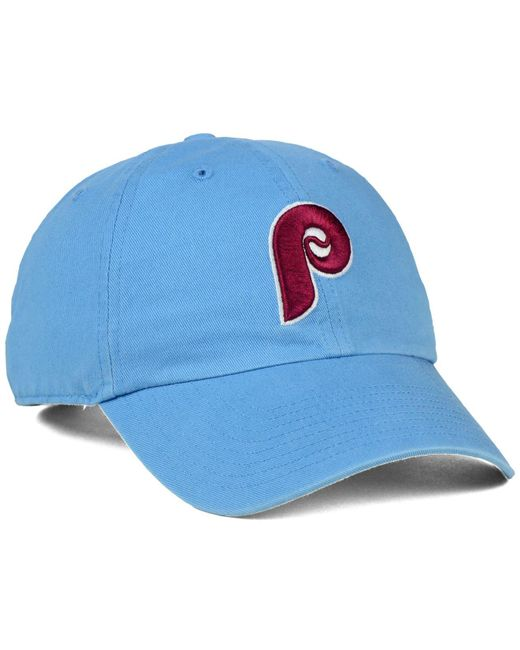 huge selection of 6a4ff f78b8 ... 47 Brand - Blue Philadelphia Phillies Core Clean Up Cap for Men - Lyst  ...