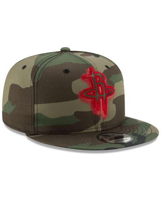 best sneakers 01809 16bfd ... KTZ - Green Houston Rockets Overspray 9fifty Snapback Cap for Men -  Lyst ...