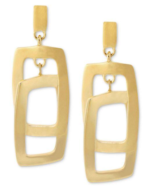 Kenneth Cole | Metallic Earrings, Gold-tone Rectangle Link Drop Earrings | Lyst