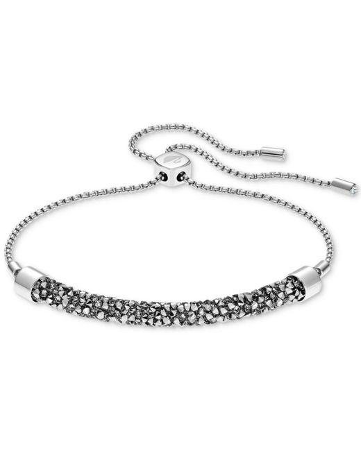 Swarovski - Metallic Crystal Rock Slider Bracelet - Lyst