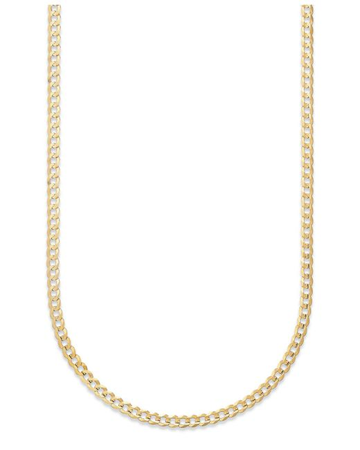 """Macy's - Metallic Curb Chain 22"""" Necklace In 14k Gold - Lyst"""