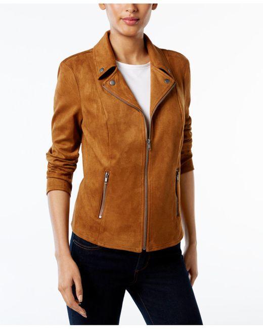 Style & Co. - Multicolor Petite Moto Jacket - Lyst