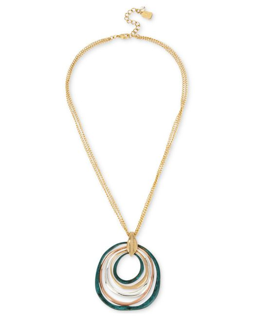 Robert Lee Morris | Metallic Two-tone Multi-circle Sculptural Pendant Necklace | Lyst
