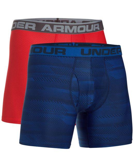 Under Armour - Blue Men's 2-pk. Heatgear® Boxer Briefs for Men - Lyst
