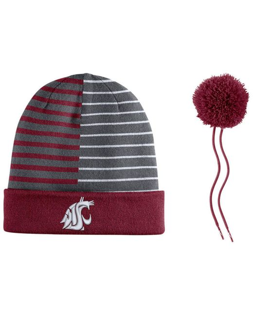 e86bc85bb44 ... Nike - Red Washington State Cougars Striped Beanie Knit Hat for Men -  Lyst ...